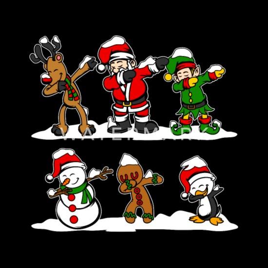 Dabbing Santa Dab Rentier Elf Weihnachten Geschenk Kinder ...