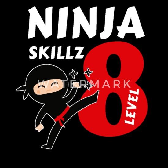 8 Ans 8e Anniversaire Garcon Ninja Samourai Cadeau T Shirt Manches Longues Premium Enfant Spreadshirt