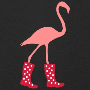 Flamingo with rubber boots - Kids' Premium Longsleeve Shirt