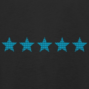 5 stars five knitting optics stars blue - Kids' Premium Longsleeve Shirt