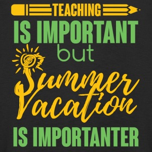 Teacher / School: Teaching Is Important but Summer - Kids' Premium Longsleeve Shirt