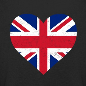 UK Flag shirt Hart - Brittish Shirt - Kinderen Premium shirt met lange mouwen