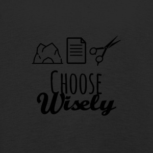 Rock paper scissors choose wisely - Kids' Premium Longsleeve Shirt