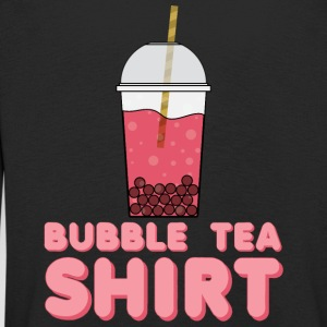 Tea Shirt -  - T-Shirt with Bubble Tea - Kids' Premium Longsleeve Shirt