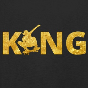Skateboard King Gold Skater - Kids' Premium Longsleeve Shirt