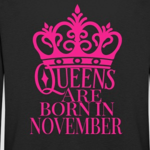Queens are born in November - Kids' Premium Longsleeve Shirt