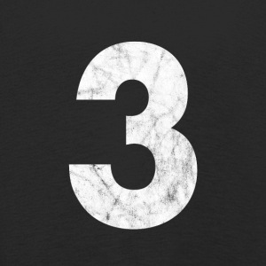 Zahl 3, Nummer 3, 3, three, Number three, Drei - Kinder Premium Langarmshirt