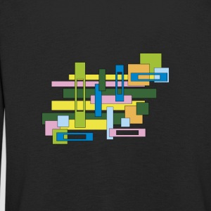 abstract full and empty rectangles - Kids' Premium Longsleeve Shirt