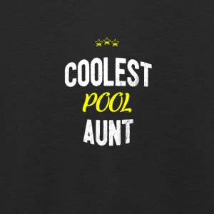 Distressed - COOLEST POOL AUNT - Kids' Premium Longsleeve Shirt