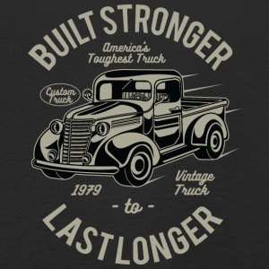 Vintage Truck. Built stronger last longer Shirt - Kinder Premium Langarmshirt