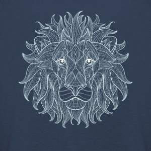 Lion white lion king outline mandala pattern head - Kids' Premium Longsleeve Shirt