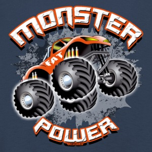 11A-02 POWER-MONSTER TRUCK - FAT-RAD - Kinder Premium Langarmshirt