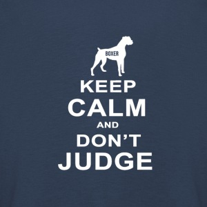 Hunde T Shirt | Boxer - Keep Calm Don´t Judge - Kinder Premium Langarmshirt