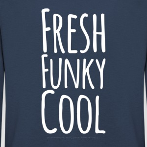 Frisk Funky Cool white - Premium langermet T-skjorte for barn