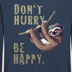 sloth sloth chilling sleep Slow happy humor fun - Kids' Premium Longsleeve Shirt