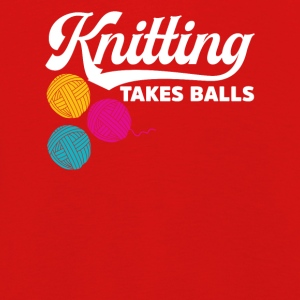 Knitting takes balls - Kids' Premium Longsleeve Shirt