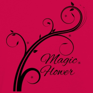 Magic Flower schwarz - Kinder Premium Langarmshirt