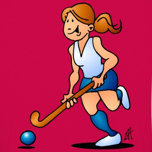 Hockey sur gazon. Une fille de hockey.