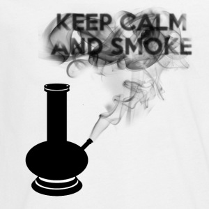 KEEP CALM AND SMOKE - Maglietta Premium a manica lunga per teenager