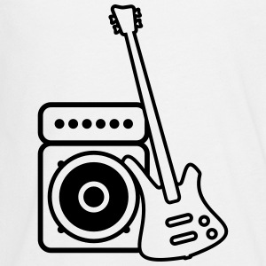 Bass guitar with amp Long Sleeve Shirts