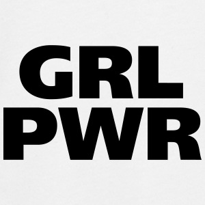 GRL PWR Girl Power coole Mädchen starke Frauen fit - Teenager Premium Langarmshirt