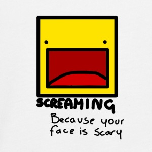 Screaming face - T-shirt manches longues Premium Ado