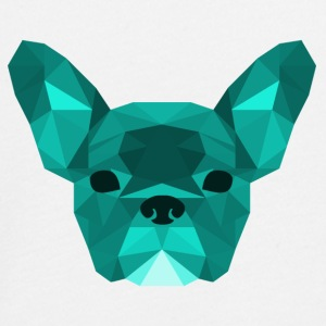 Low Poly Frenchie cyan - Teenagers' Premium Longsleeve Shirt