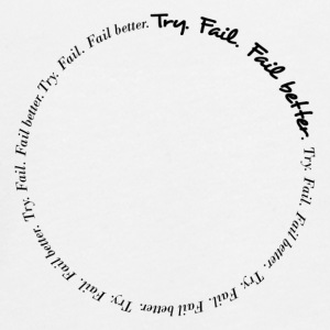 Try. Fail. Fail better. Message T-shirt - Maglietta Premium a manica lunga per teenager