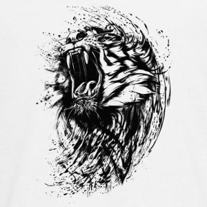 Tiger - Paint - Teenager Premium Langarmshirt
