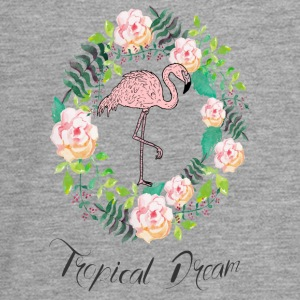 Flamingo - Tropical Dream - Blumenkranz - Teenagers' Premium Longsleeve Shirt