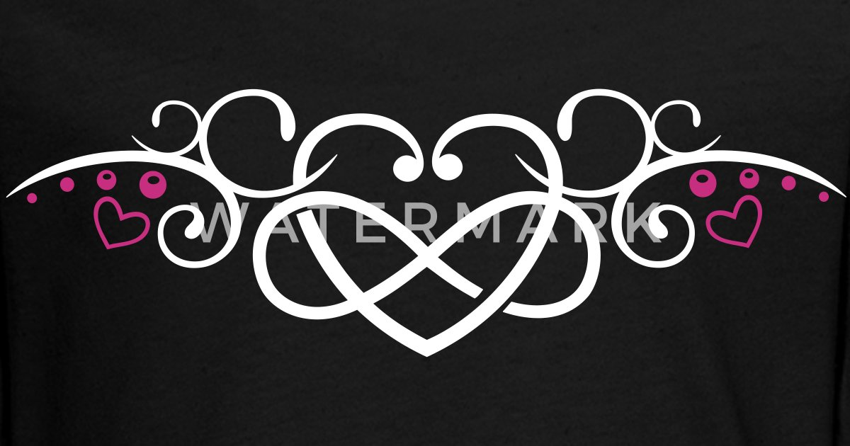 Heart With Infinity Symbol Tribal Tattoo Style By Christine Krahl