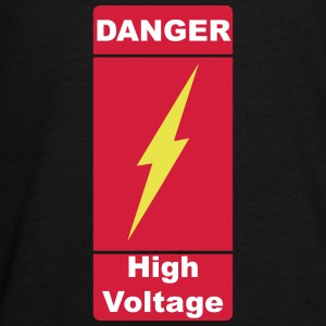 Danger High Voltage under current Caution 3c - Teenagers' Premium Longsleeve Shirt