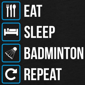 Eat Sleep Badminton Repeat - Långärmad premium-T-shirt tonåring