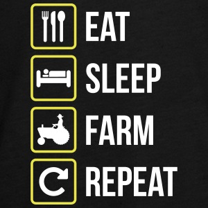 Eat Sleep Farm Repeat - Teenagers' Premium Longsleeve Shirt