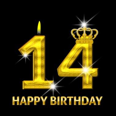Alles Gute Zum 14 Geburtstag Teenager Premium Langarmshirt