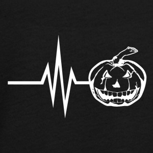 My heart beats for halloween horror pumpkin - Teenagers' Premium Longsleeve Shirt