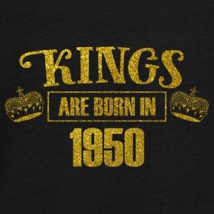 kings are born in 1950 - Geburtstag Koenig Gold - Teenager Premium Langarmshirt