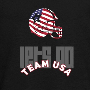 Usa Football Touch down flag America Sports defenes - Teenagers' Premium Longsleeve Shirt