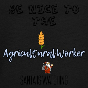 Be nice to the Agricultural worker Santa watch it - Teenager Premium Langarmshirt