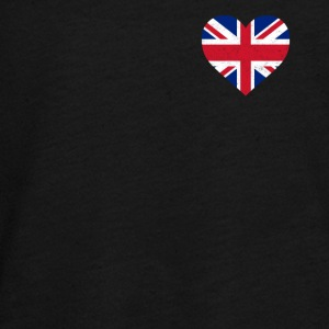 UK Flag shirt Hart - Brittish Shirt - Teenager Premium shirt met lange mouwen