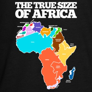 THE TRUE SIZE OF AFRICA - Teenagers' Premium Longsleeve Shirt