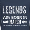 Legends are born in march verjaardags shirt design - Teenager Premium shirt met lange mouwen