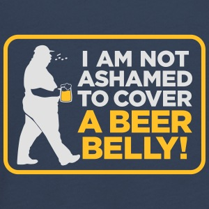 I Am Not Ashamed To Cover A Beer Belly! - Teenagers' Premium Longsleeve Shirt