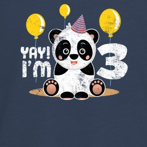 Yay! Je suis trois! 3rd Birthday Sweet Child Panda - T-shirt manches longues Premium Ado