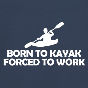 born to kayak forced to work - Teenager Premium Langarmshirt