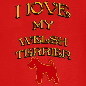 I LOVE MY DOG Welsh Terrier - Teenagers' Premium Longsleeve Shirt