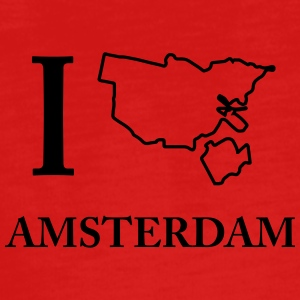 I Love I Love Amsterdam Holland Weed Shirt - Teenagers' Premium Longsleeve Shirt