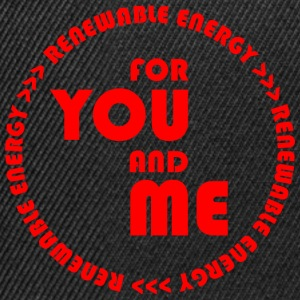 RENEWABLE ENERGY for you and me - red - Snapback Cap