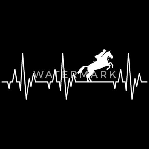 Heartbeat ECG Equitation Equitación Ecuestre Ecuestre deportivo - Gorra  snapback. delante. Diseño 37207ffcfe0
