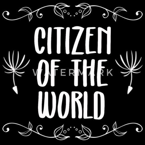 Lustige Spruche Reisen Welt Citizen Of The World Snapback Cap